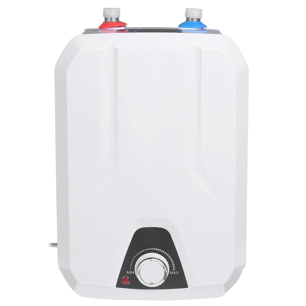 8L Electric Rapid Hot Water Storage Tank Heater 1500W 110V Household Bathroom Induction Shower Vertical Type Solar Heater Backup