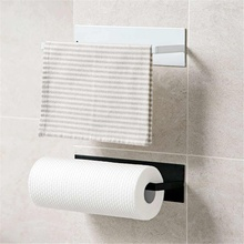 Wall Bracket Towel Rack Storage Box Rag Bracket Plastic Wrap Storage Rack Kitchen Accessorie