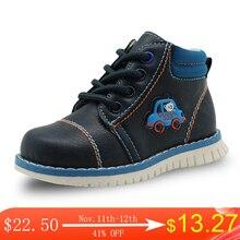 Apakowa zapatos de piel sintética para niños, botas con cremallera a la moda, color sólido, para primavera y otoño