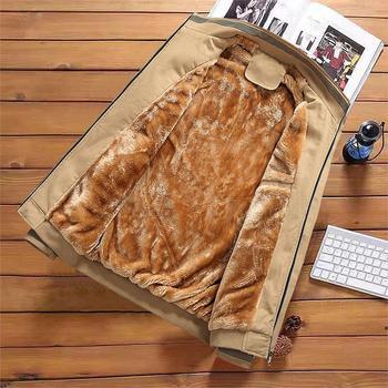 2019 autumn and winter sportwear men's jacket fashion fleece warm men coat Business Casual plus size high quality clothing M-4XL