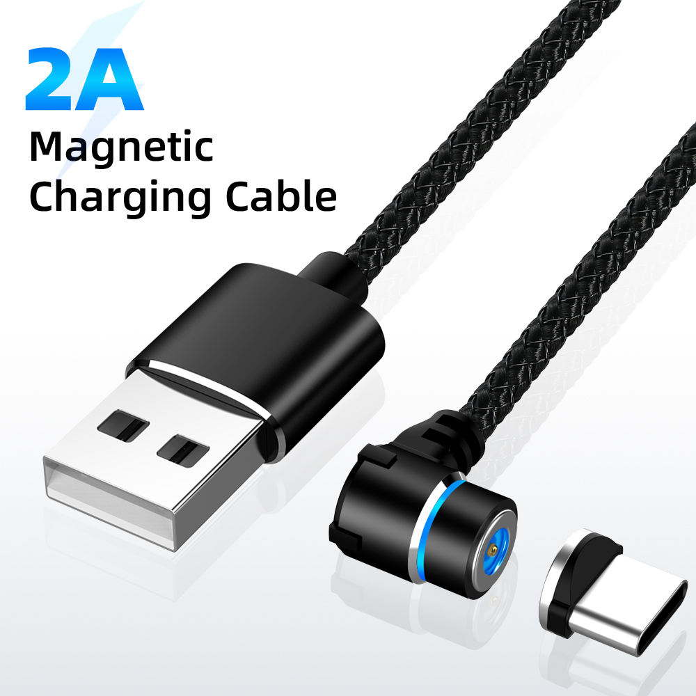 Magnetic USB Cable 90 Degree Fast Charging Type C Cable Magnet Charger Data Wire Charge Micro USB Cabo Phone Game Cable USB Cord