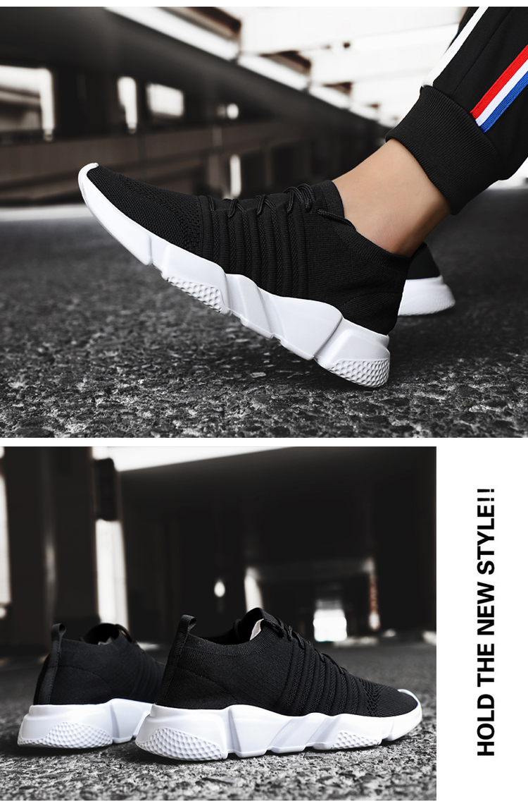 H4315914f777a450db03e921eafdb52e9a - Men Sneakers Lightweight Flykint Casual Shoes Men Slip On Walking Socks Shoes Trainers Mesh Flat Homme Big Size Tenis Masculino