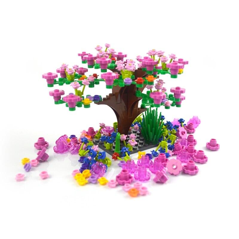 MOC Plant Grass Flower Building Blocks City Street View Garden DIY Accessories Creative Bricks Parts Compatible Legoinglys Toys