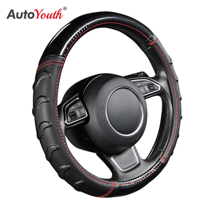 AUTOYOUTH Willow Patterned Massage Car Steering Wheel Cover Soccer Pattern Splice Light Leather Universal Fits Most Car Styling(China)