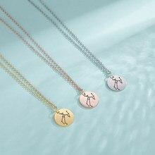 Lucktune 12 constelações pingente colar zodiac colares libra gemini taurus aries escorpião aço inoxidável moda jóias
