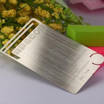 Metal card stainless steel card custom metal brushed business card stainless steel business card production
