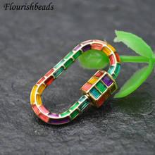 Красочные эмалированные застежки для рукоделия циркониевые бусины