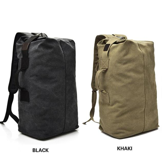 Backpack Travel Bag High Capacity Outdoors Men Canvas Field Survival Picnic Traveling Backpack 6