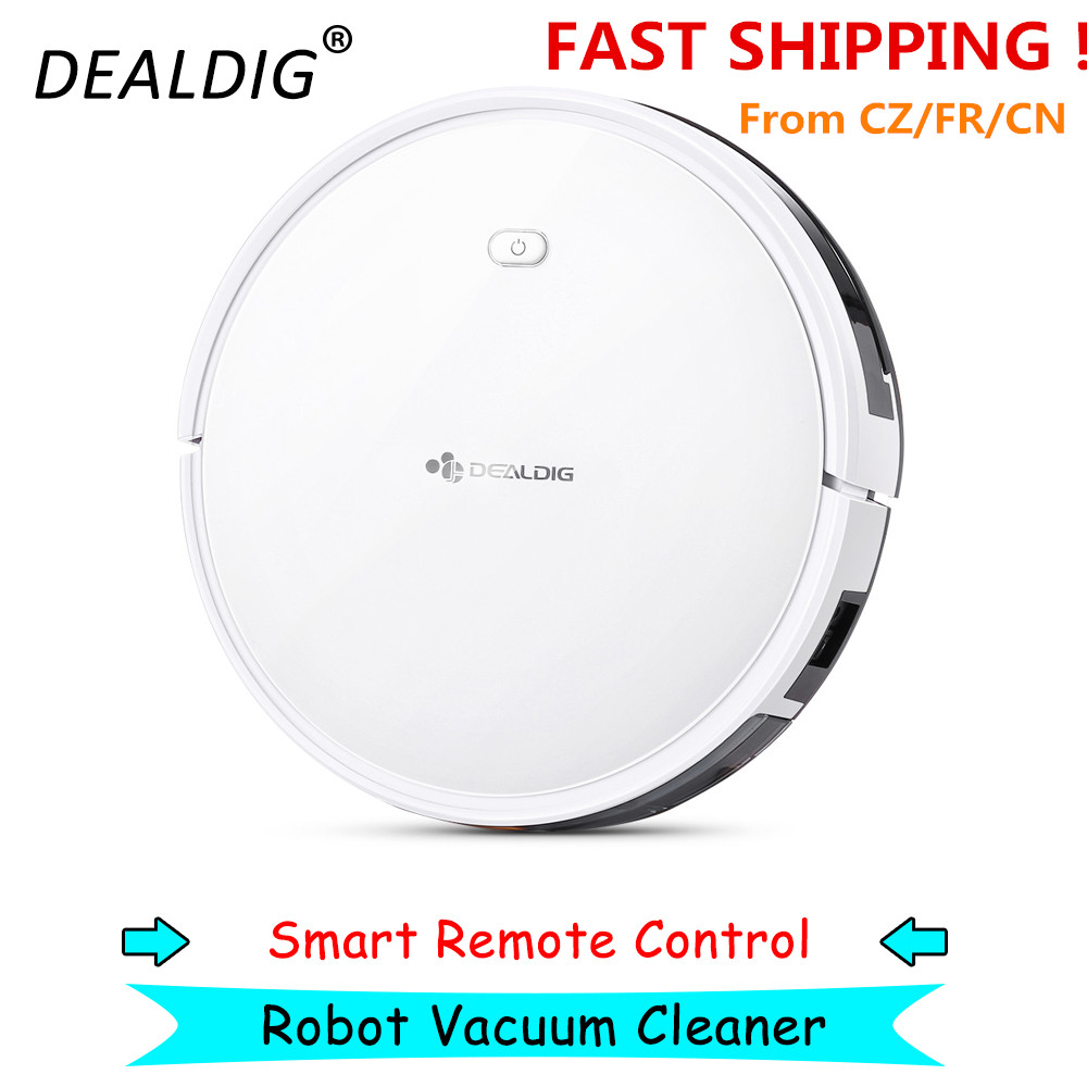 DEALDIG Robvacuum 8 Robot Vacuum Cleaner with WiFi Connectivity Work for Alexa Gyroscope Navigation App Remote Control Low Noise image