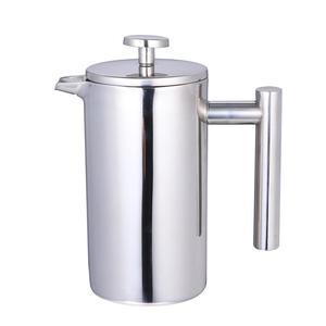 Image 1 - 350/800/1000ML Kaffee Töpfe Doppel Schicht Edelstahl Kaffee Und Tee Französisch Presse Wärme Erhaltung becher