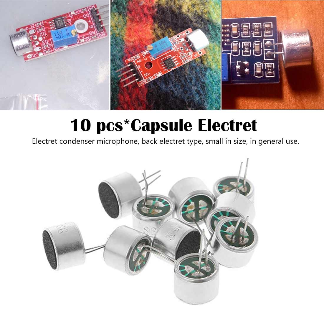 Different Value Electret PCB Microphone 2Pin Inserts Condenser
