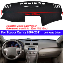 Araba Dash masası örtüsü Dash Mat Dash Pad DashMat için ANti UV Toyota Camry rusya masası örtüsü ped halı 2007 2008 2009 2010 2011