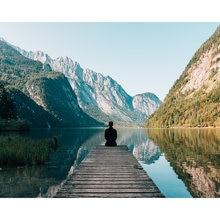 Diy картина по номерам Набор для создания пейзажа маслом озеро