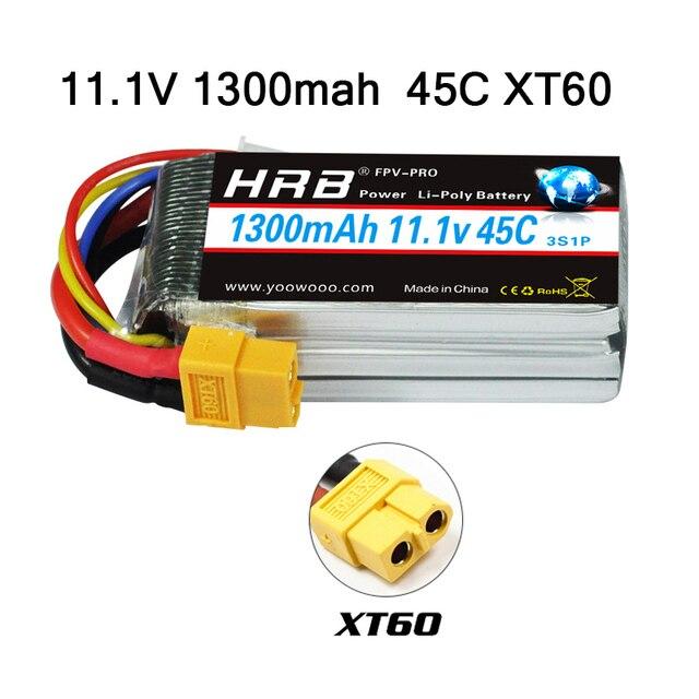 HRB 3S 11.1V 1300mAh 45C Lipo