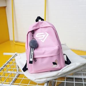 Чёрно-розовая детская школьная сумка nct рюкзак mamamoo ateez seventeen txt loona для девочек-подростков Sac Dos Super junior Women