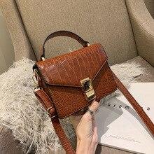 Fashion Stone pattern Leather women handbags 2019 New Quality Ladies Designer Shoulder Messenger Crossbody bags female Purse