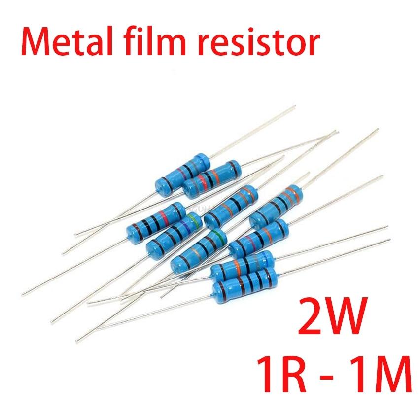 20 шт. 2 Вт металлический пленочный резистор 5 цветов кольцо 1% 1R   1 м 1R 22R 47R 100R 220R 470R 1 к 10 к 22 к 100 к 220 к 10 22 47 100 220 470 Ом|Резисторы|   | АлиЭкспресс
