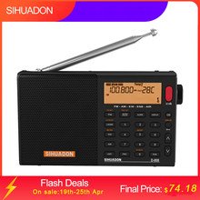 XHDATA D-808 Portable Digital Radio FM Stereo/SW/MW/LW SSB AIR RDS Multi Band Radio Speaker with LCD Display Alarm Clock Radio