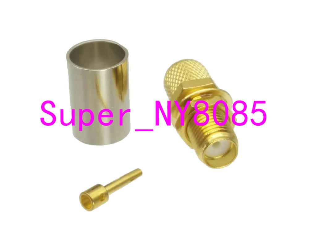 RG58 Silver BNC MALE ANGLE to UHF Female BULKHEAD Coax RF Cable USA Lot