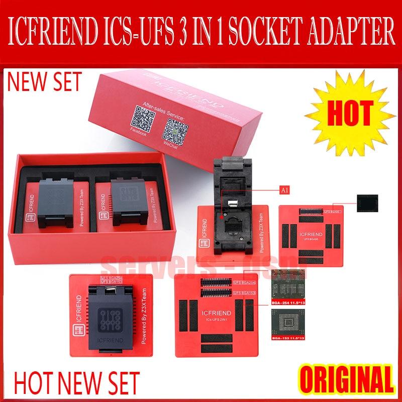 2020 NEWEST ORIGINAL ICFriend ICs-UFS 3 IN 1 UFS adapters socket support UFS BGA254 BGA153 BGA9 with EASY JTAG PLUS box work(China)