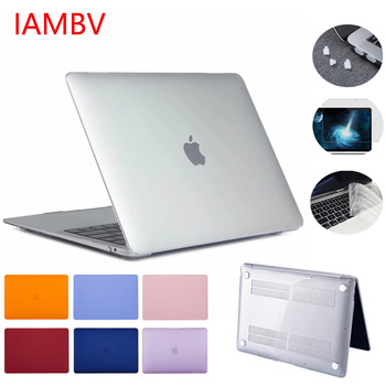 CrystalMatte Case For Apple Macbook Air Pro Retina M1 Chip 11 12 13 15 16 Inch,for 2020 Air 13 A2179 Pro13 A2251 A2338 +gift 1