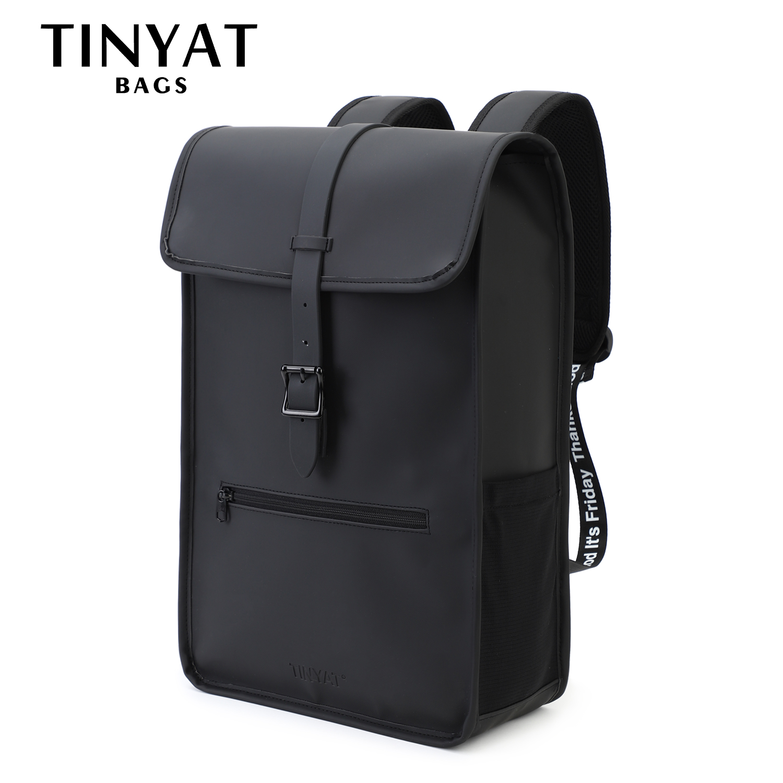 Купить новый мужской кожаный рюкзак tinyat для ноутбука 14 дюймов водонепроницаемый