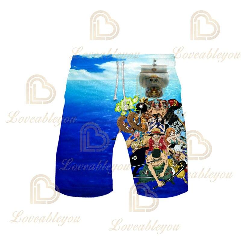 Calções de verão praia de anime calções de banho luffy board para homem calções de banho wear joggers sweatshorts