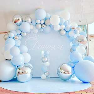 Metal Balloon Garland Macaron Birthday-Party-Decor Arch-Event Balons Party-Foil Baby Shower