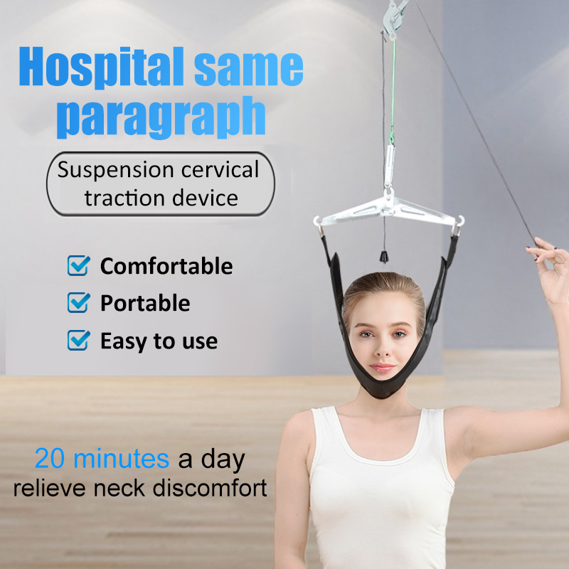 Cervical traction device Cervical Traction Belt Stretch Thickening Hood Neck Care Tool orthosis traction frame for the neck