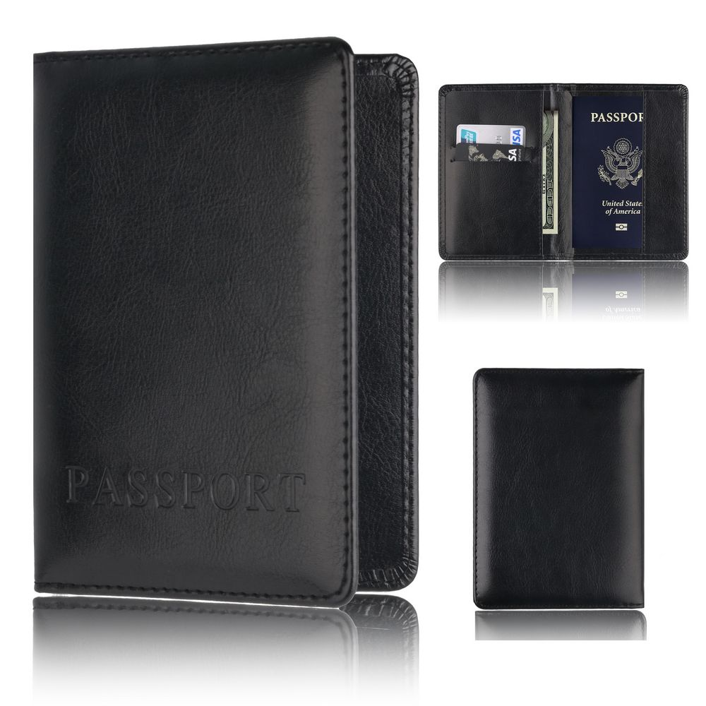 TOURSUIT Leather Multi Functional Credit Card Passport Holder Cover Case For Men And Women