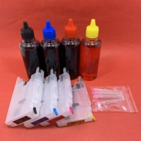 YOTAT CARTUCCIA di 4*100ml inchiostro Dye + cartuccia di inchiostro Riutilizzabile LC12 LC17 LC71 LC73 LC75 LC77 LC79 LC400 LC450 LC1220 LC1240 LC1280 per il Fratello