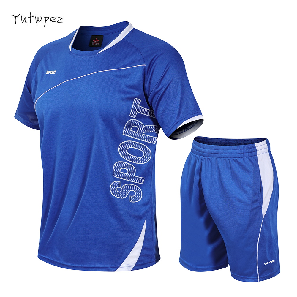 Tracksuit Men M-4XL Summer Hot Sale Men's Sets T Shirts+shorts Two Pieces Sets Casual Tracksuit Male O-Neck Solid Sportswear