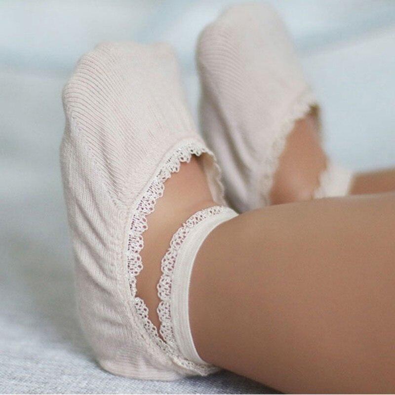 Toddler Kids Infant Girl Solid Cotton Socks Summer Breathable Elastic Anti-Skip Ankle Soft Sock
