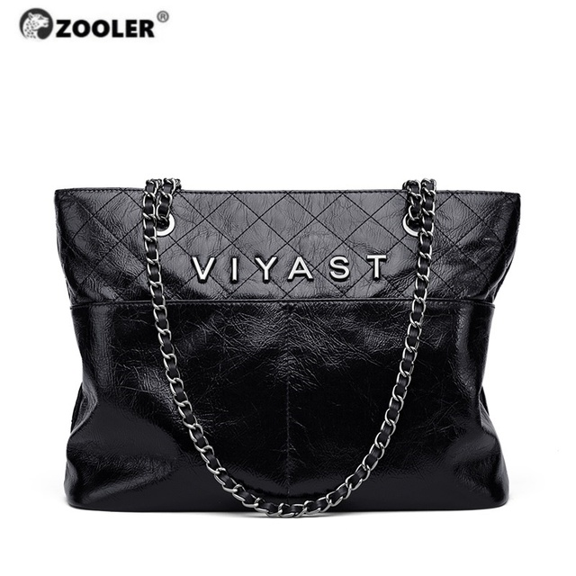 ZOOLER Exclusively Cow Leather Women's Shoulder Bag Genuine Leather Ladies Cross-body Bag Quilted Women Messenger Bags#LT330
