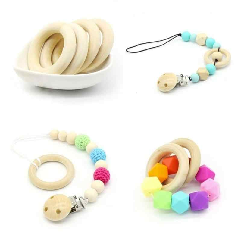 new 15-125MM Connectors wood color wooden round ring  Necklace Bracelet Crafts