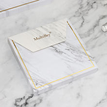 Marble school supplies Paper Marble Sticky Notes Kawaii Memo Pad Book Cute Note Pad with Sticky Notes Organizer Holder