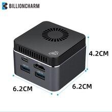 Mini PC Intel Celeron N4100 Quad-Core 8GB LPDDR4 128GB 2.4G/5.0G WiFi Bluetooth 4.2 HDMI2.0 4K 60Hz USB-C Windows10 Computer