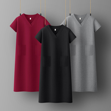 Spring summer  Woman Cotton Soft Short Sleeve Dress Casual Satin Sexy Camisole Elastic Female Home Beach Dresses