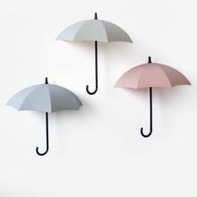 3 unids/set ganchos de cocina autoadhesivos lindo paraguas soporte de pared ganchos de gancho de pared sombrero colgador organizador duradero regalo