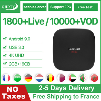IPTV France Arabic Belgium Leadcool Plus Android 9.0 QHDTV IPTV Subscription France Italy Germany Turkey Dutch Algeria IP TV