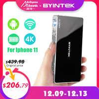 BYINTEK UFO P10 Portable Home cinéma intelligent Android 7.1.2 OS Wifi Mini HD LED dlp projecteur pour 1080P MAX 4K complet pour Iphone 11