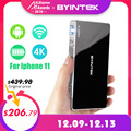 BYINTEK UFO P10 Portable Smart Home Theater Android 7.1.2 OS Wifi Mini HD LED Dlp Projector For Full 1080P MAX 4K For Iphone 11