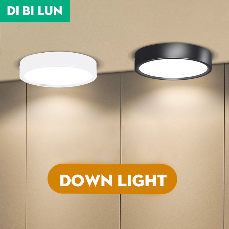 LED Downlight Mini Surface Mounted AC85-265V 5W 10W 15W Panel Spot Light Ultra Thin Ceiling Lamps  Indoor Lighting For Kitchen