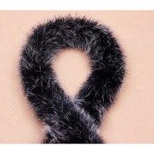 1 ярд ленты из искусственного кроличьего меха пушистая отделка DIY аксессуары домашний декор отделка для шитья костюм ремесла