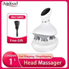 AGDOAD умный массажер для головы, зарядка через USB, беспроводной массажер для головы, устройство для снятия стресса и расслабления тела, массаж...
