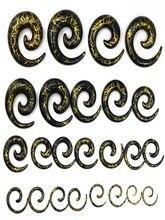 18pcs acrylic spiral ear plug stretch body jewelry wholesale caps fake expander tunnel Kit