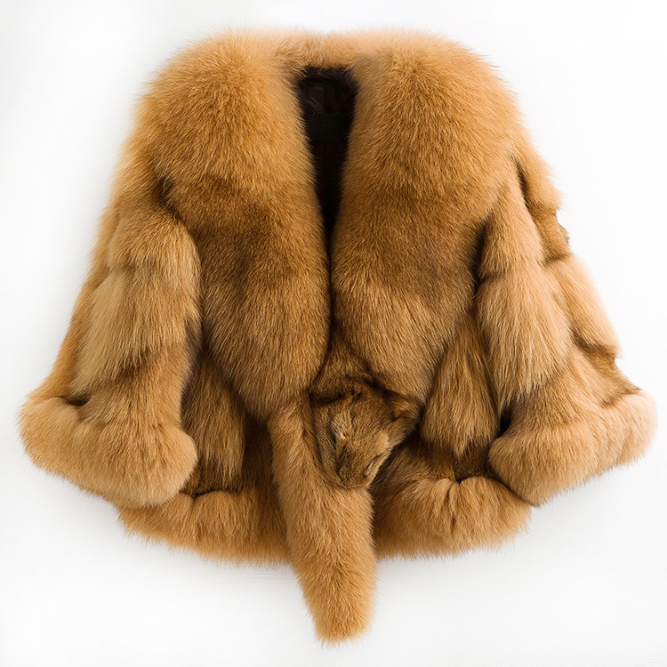 Fox Natural Fur Coat Female Jacket Winter Jacket Women Clothes 2020 Cape Coat Women Luxury Outwear Abrigo Mujer MY3528