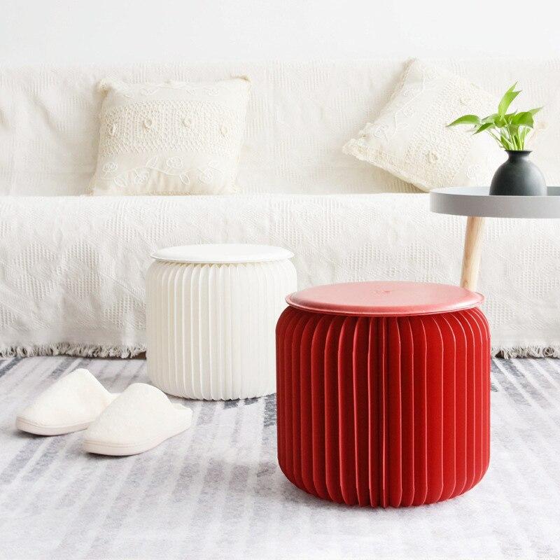Innovant magique dix-huit papier pliant chaise papier tabouret chaise maison bureau salon UEJ