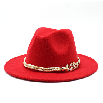 Black/white Wide Brim Simple Church Derby Top Hat Panama Solid Felt Fedoras Hat for Men Women artificial wool Blend Jazz Cap 5