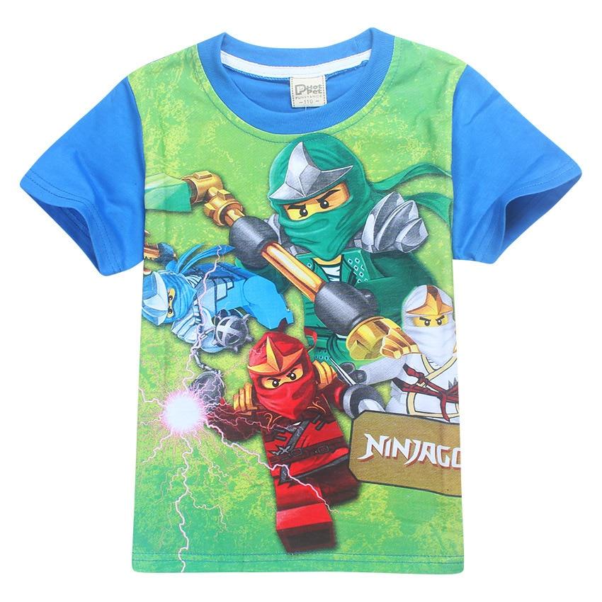 Boys Girls Ninjago Kids Cartoon Short Sleeve T-shirt Tops Casual Summer Clothing